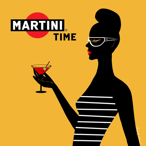 Martini Illustration by Elizabeth Arnau