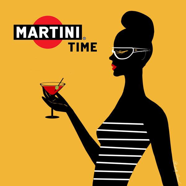 Martini Illustration by Elizabeth Arnau